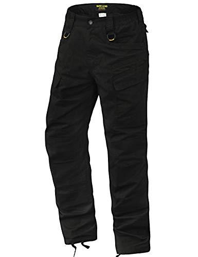 (HARD LAND Men's Lightweight Tactical Pants Waterproof Ripstop Work Cargo Pants BDU Military Trousers Black Size 38W×30L)