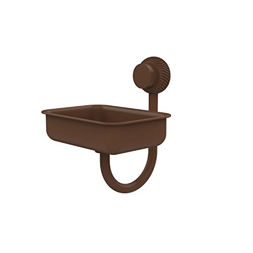Allied Brass 432T-ABZ Venus Collection Wall Mounted Soap Dish with Twisted Accents Antique Bronze