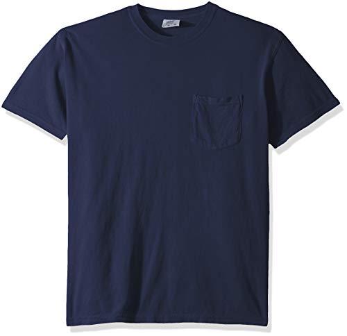 Comfort Colors Men's Adult Short Sleeve Pocket Tee, Style 6030, True Navy, 2X-Large