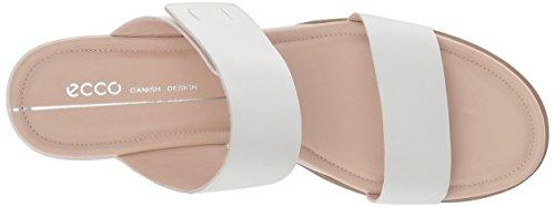 De Coin Forme Blanc Brillant 2 Glissière 35 À Sandale bracelet Femmes Ecco 6Oqw6