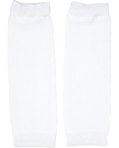 Newborn Solid White Baby Leg Warmers by -