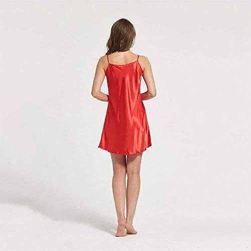 Sección Clásico Dormir Ropa Pijamas Tela Naranja De Sling En Seda Mujeres Mangas V Suave Con Cuello Camisa Camisón Sin XqSYp