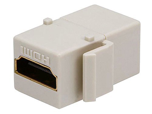 Ivory Adapter (Monoprice 106853 Keystone Jack HDMI Female to Female Coupler Adapter, Ivory, 1-Pack)
