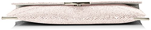SwankySwans - Korie Glitter Envelope Party Prom Clutch Bag, Sacchetto Donna White (White)