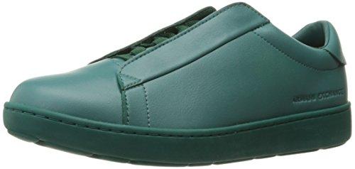 A|X Armani Exchange Men's Hidden Shoe-Lace Fashion Sneaker, Evergreen, 10 M - Ax Store Man