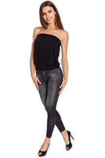 Womens Stretch Leggings Full Length Jeans Imitation Jeggings Sizes S-2XL LS9826