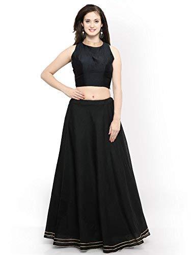 1060bfb32f3 Muta Fashions Banglori Silk Women Gown (Black)  Amazon.in  Clothing ...