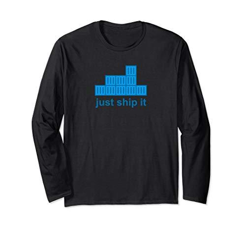 Just Ship It Docker Hackathon Programming Tech Startup Long Sleeve T-Shirt