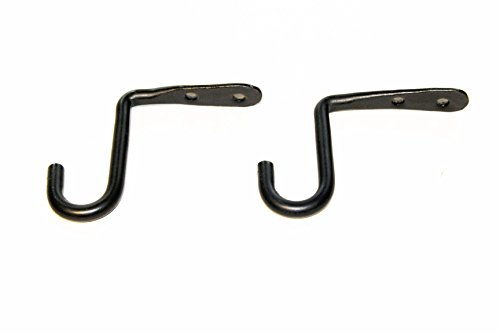 (Wrought Iron Small Under Counter Hooks Set Of Two - Hand Made by Amish)