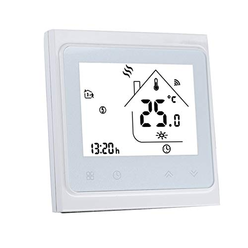 WiFi Thermostat for Smart Home, LCD Touch Screen Smart Phone APP Control Programmable Thermostat Temperature Controller for Home Floor Heating
