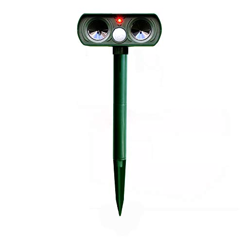 Solar Powered Ultrasonic Outdoor Animal & Pest Repeller - Motion Activated