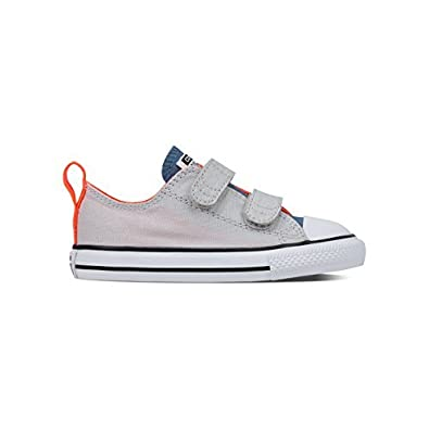 6036270b457c Converse Chuck Taylor Enfants All Star Fermeture Scratch Basse Baskets,  Souris/Bleu Coast