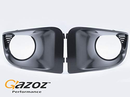 GAZOZ PERFORMANCE for 04-05 Subaru Impreza WRX STI GDB JDM FogLight Lamp Covers Bezel - Black Matt