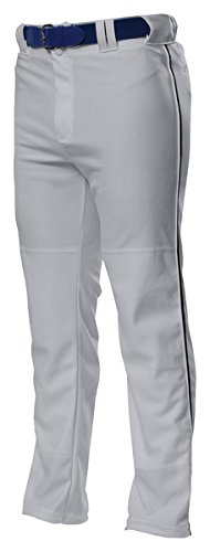A4 Youth Pro Style Open Bottom Baggy Cut Baseball Pants - Grey/ Black - S A4 Youth Baseball Pant