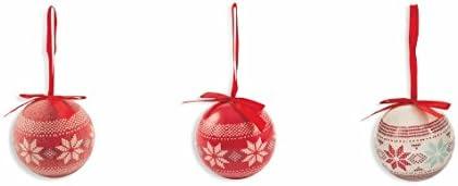 14 unit/à Polyfoam Galileo Casa Christmas Set Palle Natalizie Renna 8x8x8 cm Rosso//Bianco