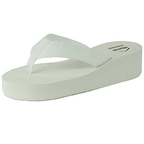 high-quality Alpine Swiss Women s Flip Flops Wedge Sandals Platform Heel  Thongs Beach Shoes f5ecf4e37