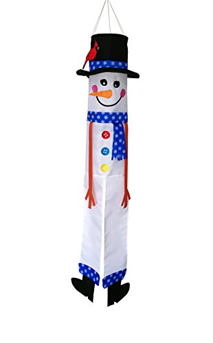 (In the Breeze Lil' Snowman 3D 40 Inch Windsock - Hanging Winter Decoration - Outdoor Holiday Décor)