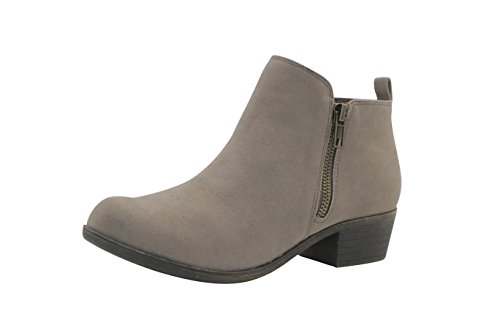 (Dunes Women's Dolly Boots, Taupe Faux Suede, 8)