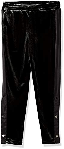 - GUESS Girls' Big Velour Pant, Jet Black a, 7