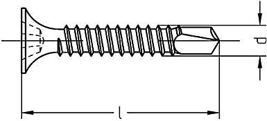 Rigipsschrauben Schnellbauschrauben Trockenwandschrauben phosphatiert Menge und Art individuell w/ählbar Bohrspitze d: 3,5mm, l: 25mm, 1 St/ück