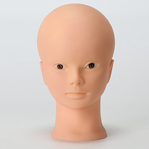 Rubber Made Wig Making Head Bald Mannequin Head Without Make Up Display Hat Display Glasses Display - Bald Glasses Head