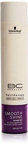 Schwarzkopf Bonacure Hairtherapy Amino Cell Rebuild Smooth Shine Shampoo, 250ml (Smooth Shine Shampoo Bonacure)