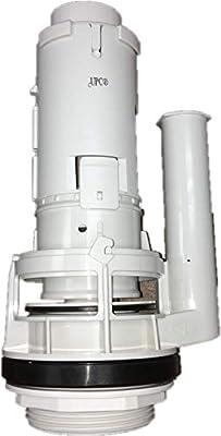 Duravit 0074137600; 1930, Happy D; Flush valve for two piece toilet Geberit HET high efficiency toilet two piece 1.28 gpf single flush; in Unfinish