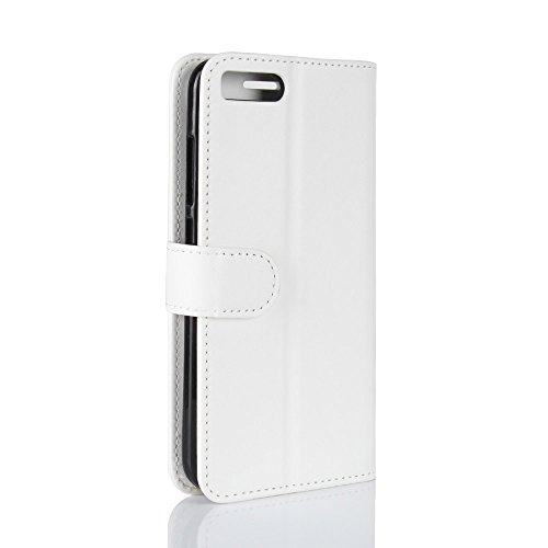 La cubierta de la caja de la cartera del teléfono para Xiao Mi 6. GOGME Xiao Mi 6 Flip Funda Funda para Teléfono, Premium PU Cartera de Cuero Conector para Celular, Celular Skin Poche Magnéticas Carta blanco