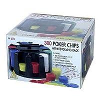 300 fichas de póker con juego de estante giratorio