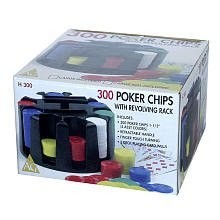 300 Poker Chips with Revolving Rack Game by John Hansen