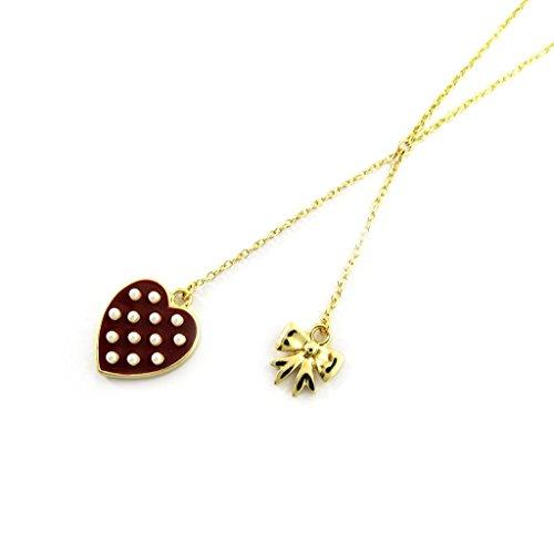 Les Trésors De Lily [L5619] - Collier 'Love' marron doré
