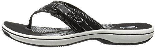 CLARKS Women's Breeze Sea Flip Flop, New Black Synthetic, 8 M US by CLARKS (Image #13)