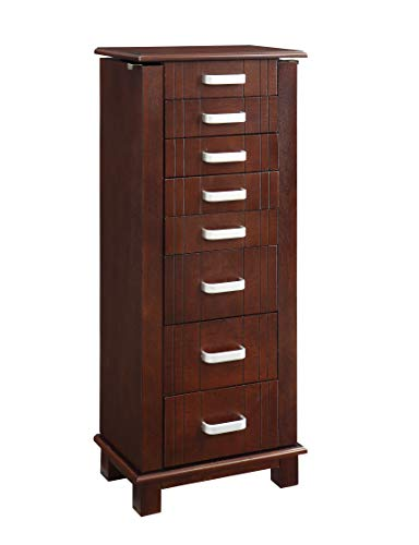 Powell PAMZN1575 Sandy Mahogany Jewelry Armoire,