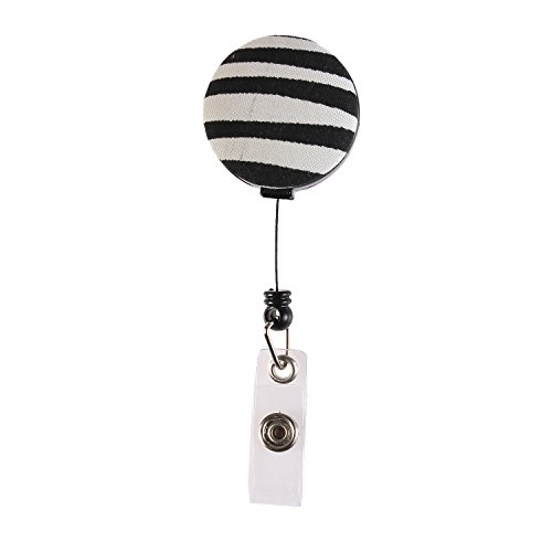 Fashion Retractable 24 inch Nylon Cord, Medical Nurse Badge ID, Badge Holder, ID Holder, Office Employee Name Badge Reel Clip(Zebra Print)