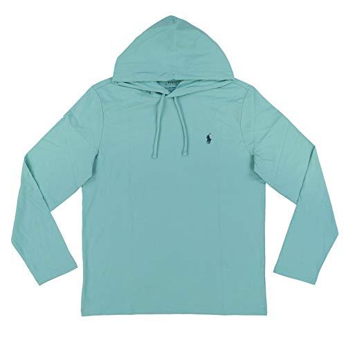 Polo Ralph Lauren Mens Jersey Knit Hoodie Tee (X-Large, Seafoam Green)