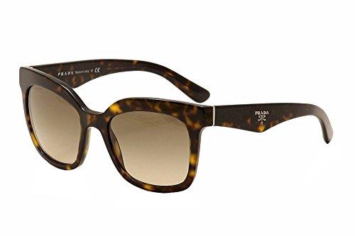 Prada 24QS 2AU3D0 Tortoise 24Qs Wayfarer Sunglasses Lens Category 2 Size - Wayfarer Prada
