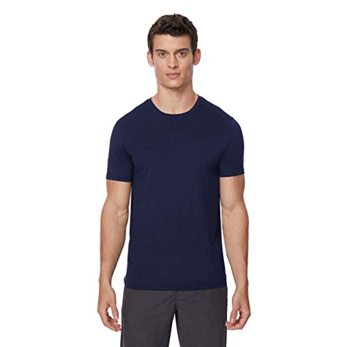32 DEGREES Mens Cool Crew Neck TEE Shirt-HT MAR NVY 2T-Small