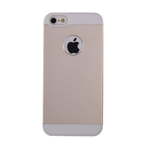 iPhone 5/5S Premium Gold Aluminum Case: Amplim® Alloy Anodized Metal on Slim PC Case (Apple iPhone 5/5S Verizon AT&T Sprint T-Mobile Cover/Armor) Retail Packaging