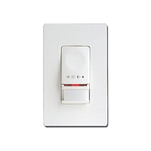 Cooper Controls OSW-P-0451-MV-W Greengate 120-277-Volt Single-Level PIR Wall Switch Sensor, White Finish (Utility Magnetic Ballast)