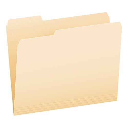 Pendaflex File Folders, Letter Size, 1/3 Cut, Manila, 100 per Box (752 1/3)