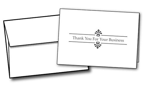 Business Thank You Cards - 48 Cards & Envelopes -