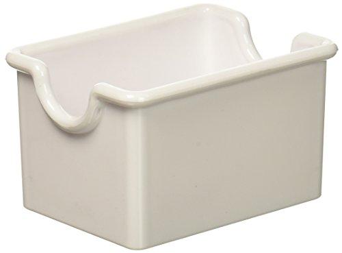 White Sugar Packet Holder (New Star Foodservice 28461 Plastic Sugar Packet Holder, White, Set of 12)