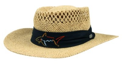 Greg Norman Collection Branded Straw Hat Vented One Size dc1485bed189