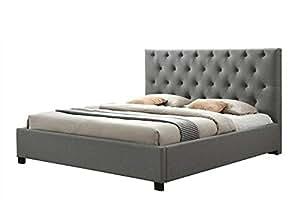 Lauren King size (180cm) Upholstered Bed in Grey