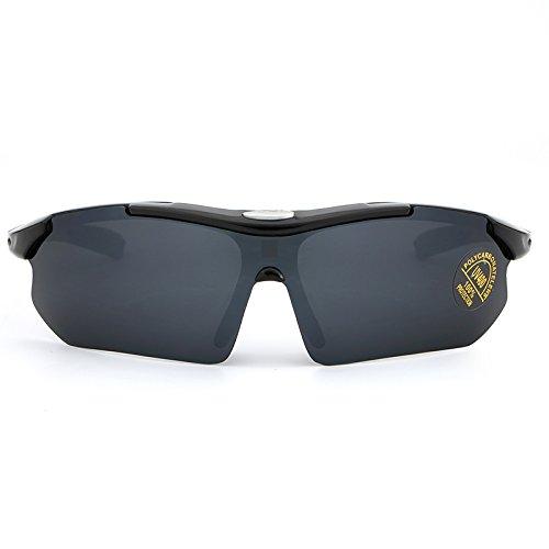Aire Sol de Libre Gafas de al White Verano Deportes Espejo Color Sol Gafas Hombre Marco Yumeik de Black polarizado Sol Gafas 0vSYgqq