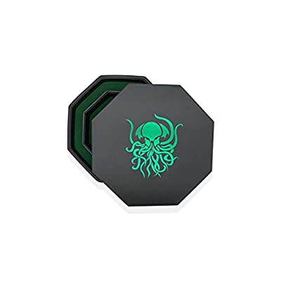Green Old One Cthulhu - Tray of Holding Hexagon RPG Dice Tray: Toys & Games