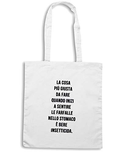 Speed DA LA Bianca Borsa Shopper Shirt PIU GIUSTA FARE COSA TDM00148 TParpTzxqw