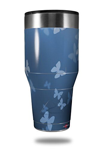Skin Decal Wrap for Walmart Ozark Trail Tumblers 40oz Bokeh Butterflies Blue (TUMBLER NOT INCLUDED) by ()