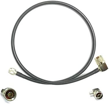 1PC N Male Plug to Male Plug Right Angle Pigtail Cable RG8 100cm Wholesale for WiFi Router Antenna