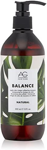 AG Hair Natural Balance Apple Cider Vinegar Sulfate-Free Shampoo, 12 fl. oz.